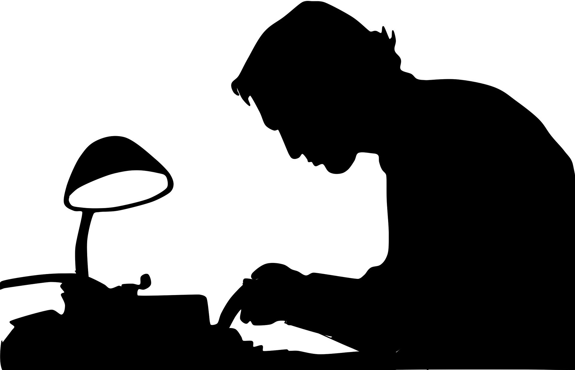 picture of man writing