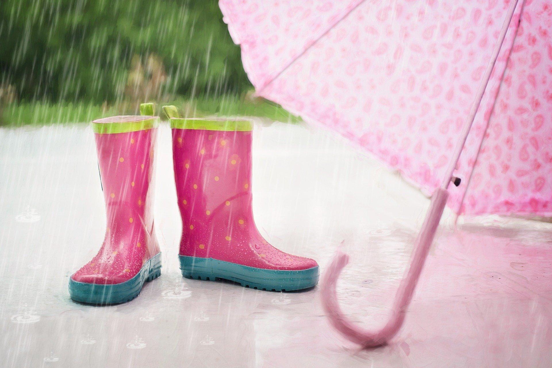 rain wellies umbrella